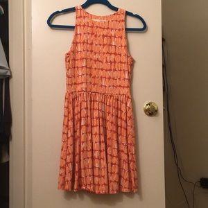 Orange patterned dress